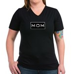 Dymo Black Label Me Mom Mother Women's V-Neck Dark