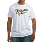 Baseball Swoosh Mom Mother's Fitted T-Shirt