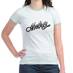 Mother Tattoo Art Text Jr. Ringer T-Shirt