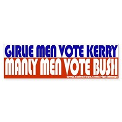 Girlie men Vote Kerry Sticker (Bumper)