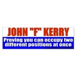 "Jphn Kerry: Master of ""F""ysics Bumper Sticker"