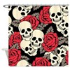Flowers and Skulls Shower Curtain