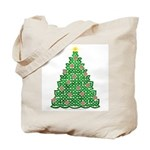 Celtic Christmas Tree Tote Bag