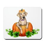 Yellow Labr-O-Lantern Mousepad