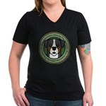Love My Berner Women's V-Neck Dark T-Shirt
