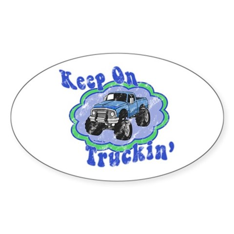 Keep on Truckin' Decal