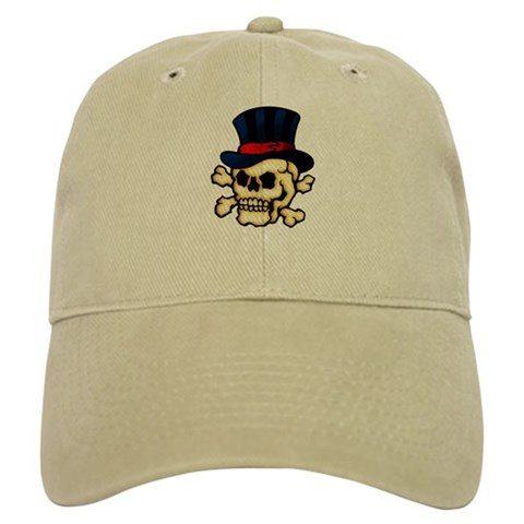 These t-shirts and other items have a classic piece of tattoo art imagery a skull in a top hat.