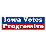 Iowa Votes Progressive Bumper Sticker