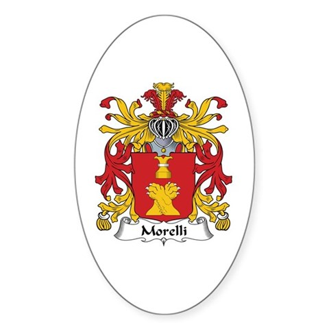 The Morelli Family Crest. Be proud of your genealogy and family name!