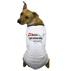 Free Speech Zone Dog T-Shirt