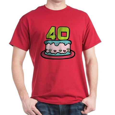 birthday cake 40 year old. 40 Year Old Birthday Cake Long Sleeve T-Shirt