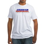 Flag American Infidel Fitted T-Shirt