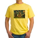 Starry Night / Border Terrier Yellow T-Shirt