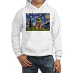 Starry Night / Border Terrier Hooded Sweatshirt