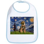 Starry Night / Border Terrier Bib