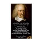 Thomas Hobbes: War Rectangle Sticker