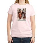 Plato Aristotle Philosophy Women's Pink T-Shirt