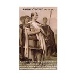 Julius Caesar Pictures Quotes Sticker (Rectangular