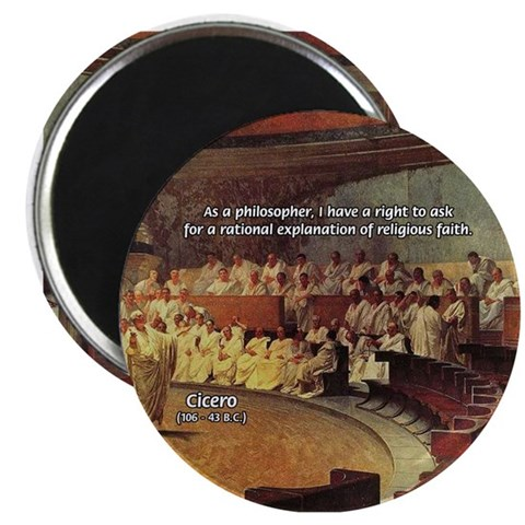 "Cicero: Philosophy Religion 2.25"" Magnet (100 pack by ..."