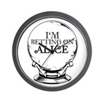 Betting On Alice Wall Clock