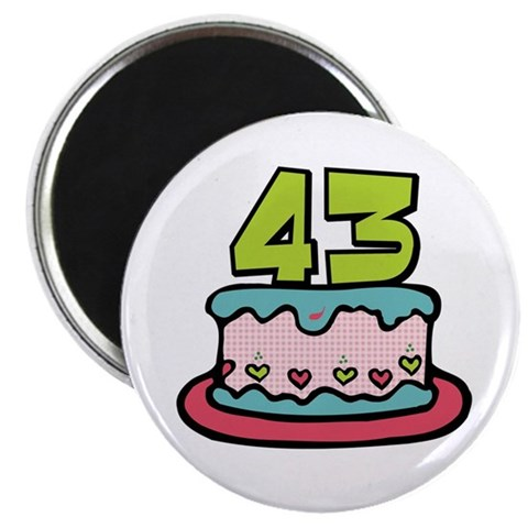 Surprising your birthday friends with our cute cartoon 43 birthday cake
