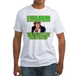 Hard Working Illegals? Fitted T-Shirt