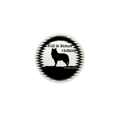 """Wolf in Human Clothing"" Mini Button"