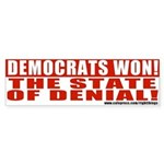 Democrats State of Denial Bumper Sticker