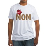New Mom Mother First Time Fitted T-Shirt