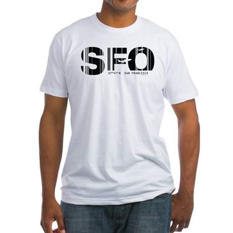 San Francisco SFO Airport Code Fitted T-Shirt