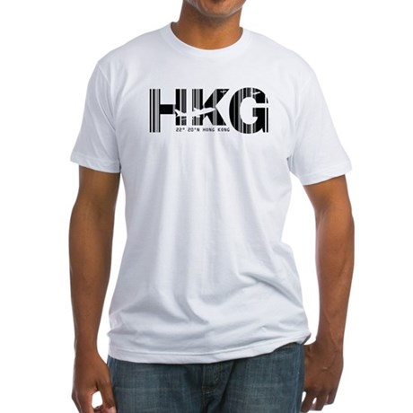 Hong Kong HKG Airport Code Fitted T-Shirt