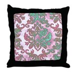 Pastel Damask Throw Pillow