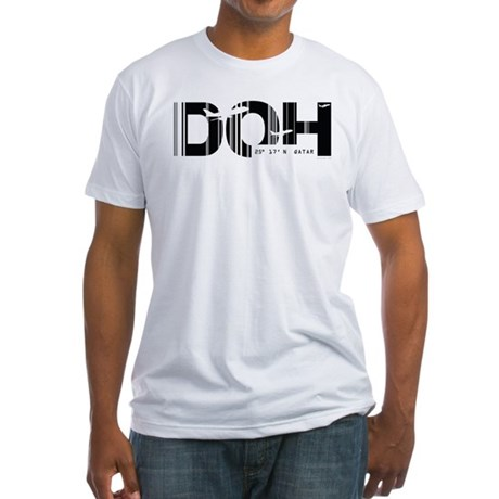 Doha, Qatar DOH Air Wear Airport Fitted T-Shirt