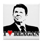 I Heart Reagan Tile Coaster