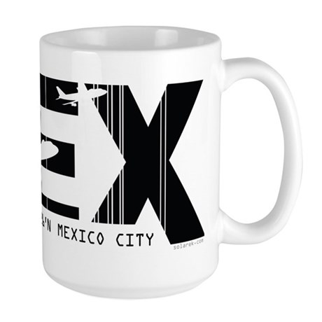 Mexico City MEX Air Wear Airport Large Mug