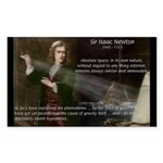 Sir Isaac Newton: Gravity Rectangle Sticker