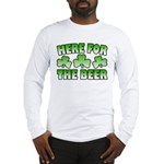 Here for the Beer Shamrock Long Sleeve T-Shirt