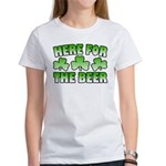 Here for the Beer Shamrock Women's T-Shirt
