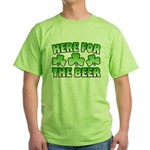 Here for the Beer Shamrock Green T-Shirt