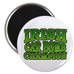 Irish Car Bomb Champion Shamrock Magnet