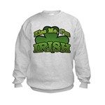 Kiss Me I'm Irish Shamrock Kids Sweatshirt