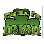 Kiss Me I'm Irish Shamrock Small Poster