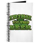 Irish You Were Beer Shamrock Journal