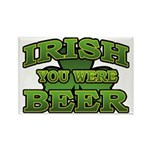 Irish You Were Beer Shamrock Rectangle Magnet (10