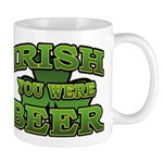 Irish You Were Beer Shamrock Mug