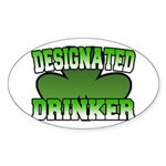 Designated Drinker Oval Sticker