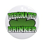 Designated Drinker Ornament (Round)