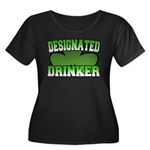 Designated Drinker Women's Plus Size Scoop Neck Da