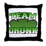 Team Drunk Throw Pillow