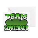 Team Leprechaun Greeting Card